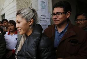 A empresária Gabriela Zapata está presa por tráfico de influência e enriquecimento ilícito Foto: Juan Karita / AP