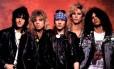Formação clássica do Guns N' Roses; Izzy Stradlin, Steven Adler, Axl Rose, Duff McKagan e Slash