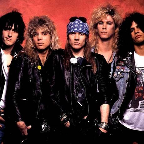 Formação clássica do Guns N' Roses; Izzy Stradlin, Steven Adler, Axl Rose, Duff McKagan e Slash Foto: Divulgação
