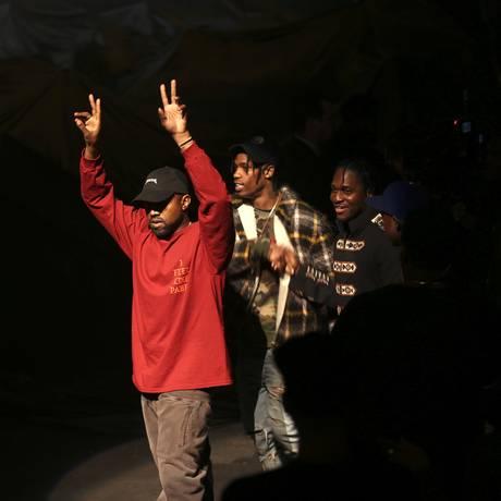 Kanye West no evento de lançamento de seu mais recente disco, 'The life of Pablo' Foto: DAMON WINTER / NYT