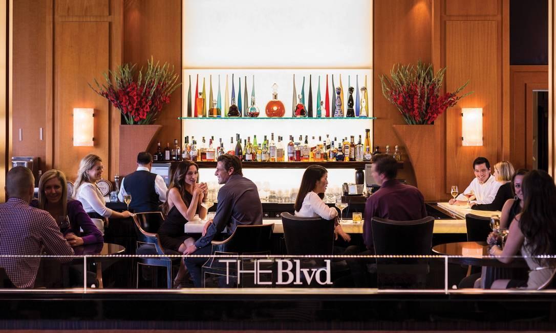 The Blvd, restaurante do Beverly Wishire, tem sucos e drinques de primeira, no roteiro Pretty Woman em Los Angeles Foto: Don Riddle/Divulgação