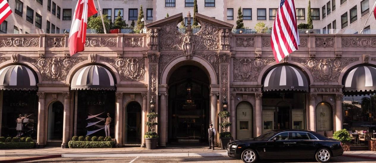 """O Beverly Wilshire, hotel da rede Four Seasons onde foram gravadas cenas com Julia Roberts e Richard Gere do filme """"Uma linda mulher"""" em Los Angeles Foto: Don Riddle / Divulgação"""