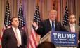Christie acompanha discurso de Trump: mudança radical