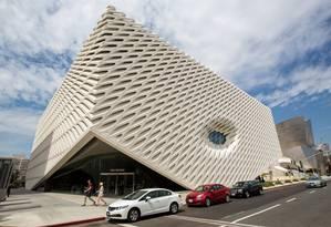 The Broad: Arquitetura arrojada em construção de US$ 140 milhões Foto: MONICA ALMEIDA/The New York Times / Monica Almeida/The New York Times
