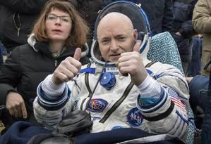 Scott Kelly passou 340 dias no espaço, um recorde para astronautas americanos Foto: Bill Ingalls / AP
