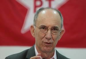 Rui Falcão, presidente do PT Foto: Marcos Alves / Agência O Globo