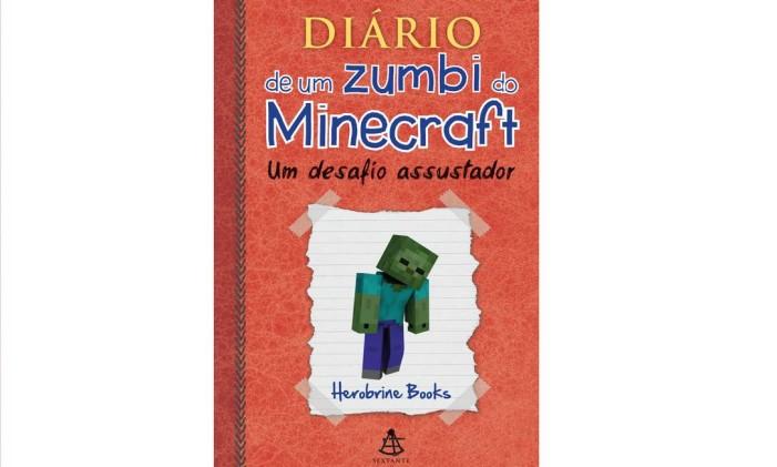 """Capa de """"Diário de um zumbi do Minecraft"""", de Herobrine Books Foto: Divulgação"""