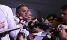 Senador Aécio Neves anuncia paralisação dos trabalhos na Câmara até instalação de Comissão do Impeachment Foto: Jorge William / Agência O Globo