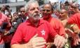 O ex-presidente Lula em São Bernardo do Campo