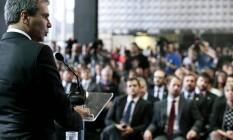 Cerimônia de posse do novo ministro da Justiça, Wellington César Lima e Silva Foto: Jorge William / Agência O Globo