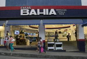 Loja das Casas Bahia Foto: Nadia Sussman / Bloomberg