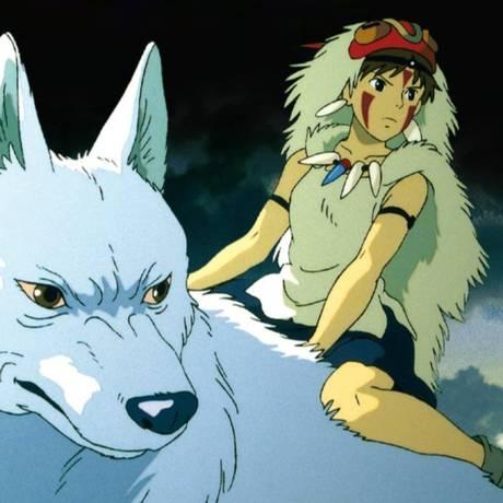Cena de 'Princesa Mononoke' (1997), de Hayao Miyazaki Foto: Reprodução