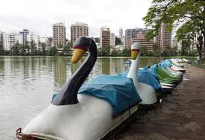 Passeio nos Pedalinhos de São Lourenço tem alta procura Foto: Evandro Éboli