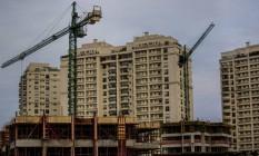 Prédio em construção na Barra da Tijuca Foto: Dado Galdieri / Bloomberg