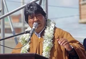 Ao falar sobre derrota em referendo, Evo Morales diz durante discurso que perder dói Foto: HANDOUT / REUTERS