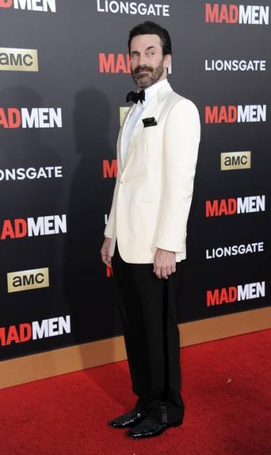 No baile para comemorar a temporada final de 'Mad men', ele não economizou nas caras e bocas Richard Shotwell / Richard Shotwell/Invision/AP