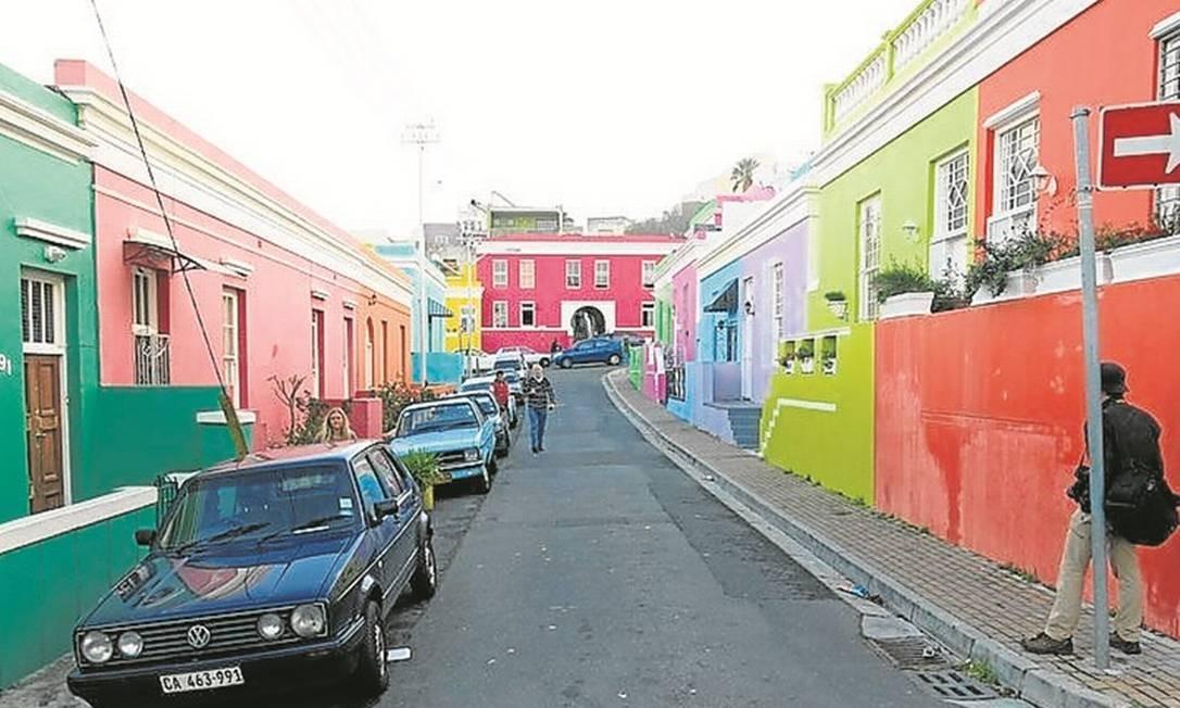 As casas coloridas do bairro malaio de Bo-Kaap, na Cidade do Cabo Foto: Adalberto Neto / Agência O Globo