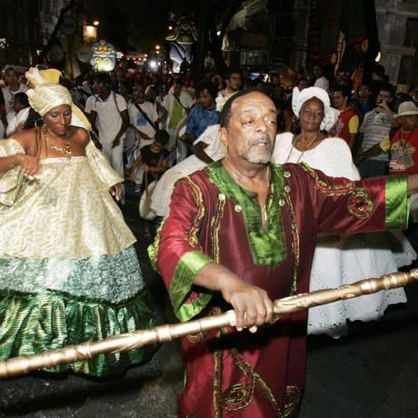 Naná Vasconcelos no carnaval de Recife em 2010 Foto: Arquivo