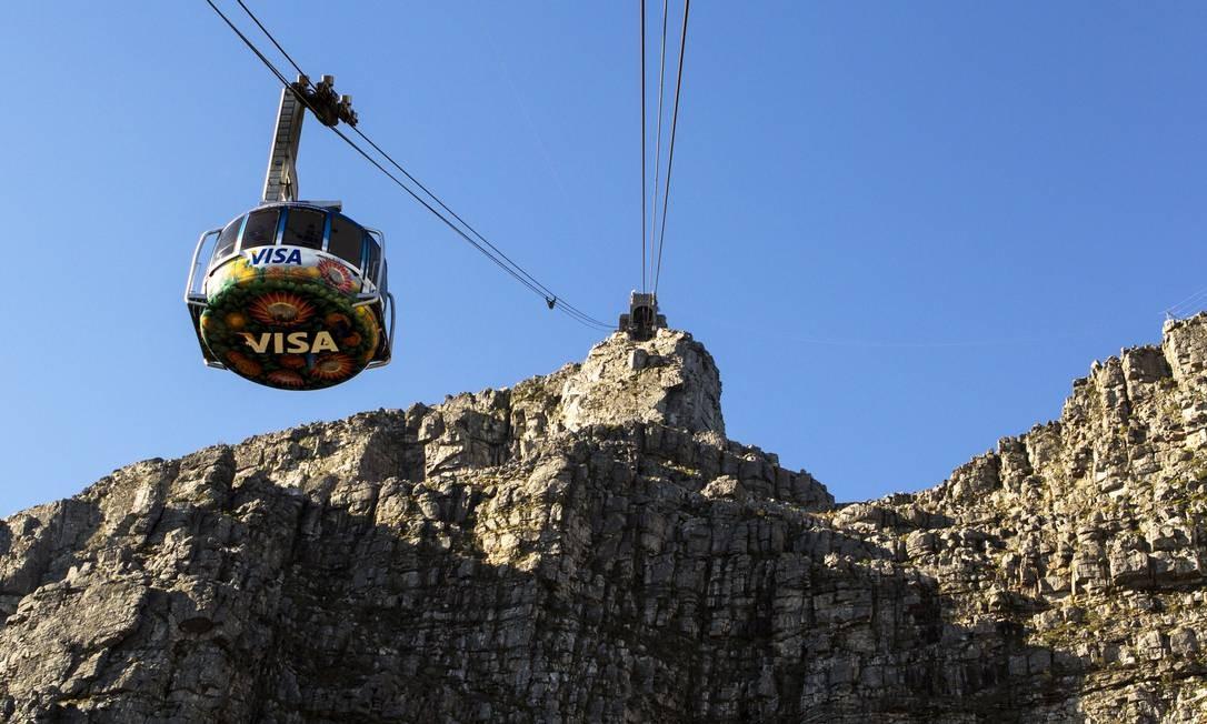 Teleférico na Table Mountain, na Cidade do Cabo, na África do Sul Foto: South African Tourism / Divulgação