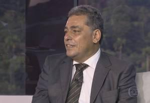 Júlio Bueno durante entrevista ao Bom Dia Rio Foto: Reprodução TV