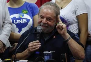 O ex-presidente Luiz Inácio Lula da Silva Foto: Agência O Globo