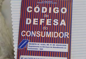 Proteção. O Código de Defesa do Consumidor: criação prevista na Constituição de 1988 Foto: Hudson Pontes 15/04/2014 / Agência O Globo