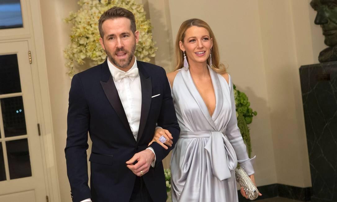 O vestido de Blake era da grife Ralph & Russo CHRIS KLEPONIS / AFP