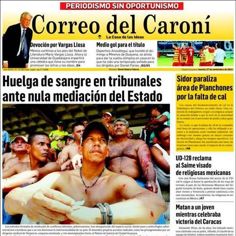 Jornal venezuelano acusou Justiça de censurar conteúdo previamente Foto: Reprodução