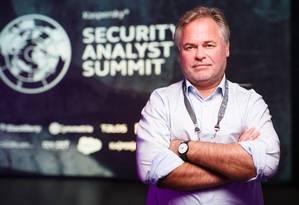 O russo Eugene Kaspersky é considerado um dos maiores especialistas em segurança cibernética do mundo Foto: Divulgação