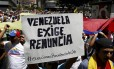 Opositores pedem renúncia de Maduro durante marcha em Caracas Foto: CARLOS GARCIA RAWLINS / Reuters