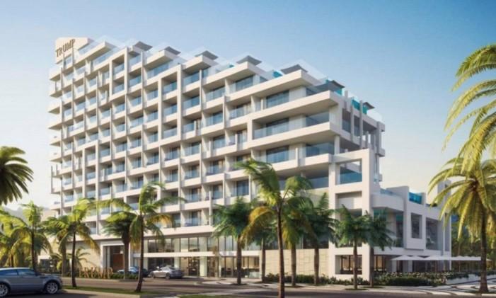 Trump Hotel no Rio de Janeiro. Obra tem previsão de ficar pronta para os Jogos Olímpicos Foto: Reprodução