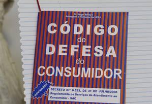 Código de Defesa do Consumidor Foto: Hudson Pontes / Agência O Globo