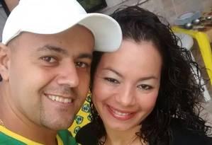 Luciano Modesto ao lado da esposa Fernanda Lima Foto: Arquivo Pessoal
