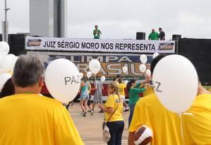 Manifestação para pedir o impeachment da presidenta Dilma Rousseff na Esplanada dos Ministérios Foto: Ailton de Freitas / Agência O Globo
