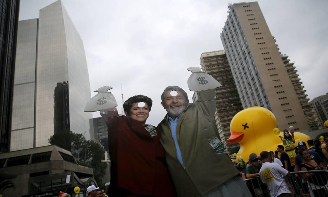 Protestos na Av. Paulista NACHO DOCE / REUTERS