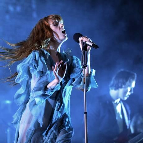 Florence And The Machine também foi uma das atrações da noite Foto: Lucas Tavares / Ag O Globo