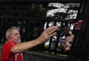 Lula, horas antes das manifestações de domingo em São Bernardo do Campo: depoimento foi à PF no último dia 4 Foto: Edilson Dantas / Agência O Globo