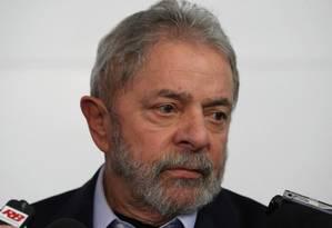 O ex-presidente Luiz Inácio Lula da Silva Foto: Michel Filho / Agência O Globo / 14-8-2014