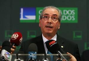 Cunha diz que impeachment pode ser votado em 30 dias Foto: Ailton de Freitas / Agência O Globo