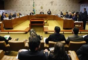 O plenário do STF Foto: Divulgação / STF