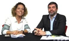 A editora da Defesa do Consumidor, Luciana Casemiro, e Paulo Coscarelli, assistente da Diretoria de Qualidade e Conformidade do Inmetro Foto: Reprodução