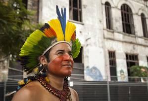Com mais diálogo com governo do estado, uma nova possibilidade é aberta para os índios da Aldeia Maracanã Foto: Hermes de Paula / Agência O Globo