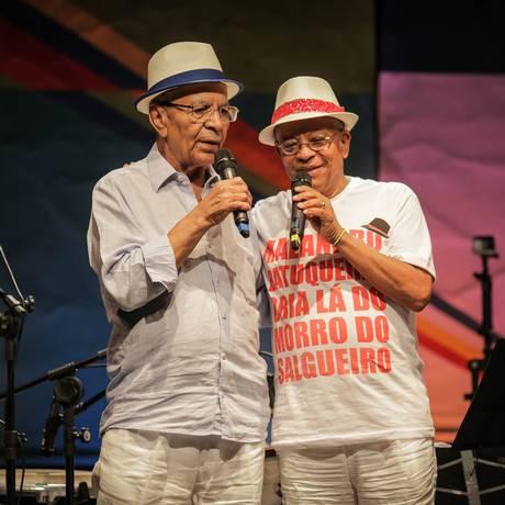 Samba de terreiro. Nei Lopes e Monarco abrem a série Foto: Leco de Souza / Divulgação