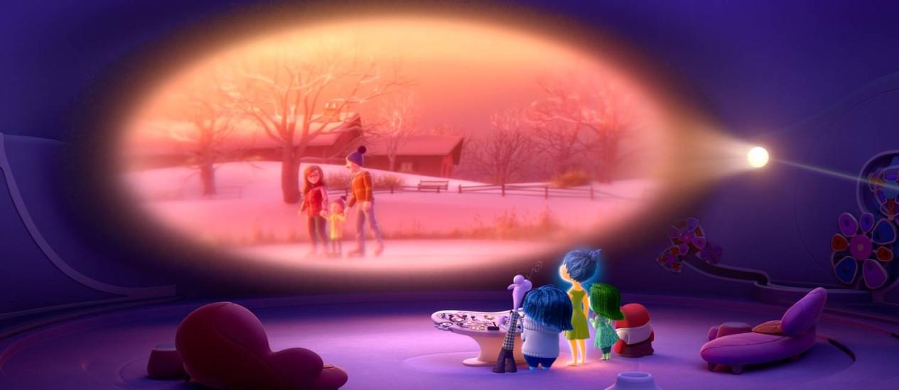 Como filme: cena do longa de animação 'Divertida mente' ilustra processo de formação de uma memória episódica, que associa momentos, lugares, emoções e outros contextos autobiográficos, e cuja falha pode ser um sinal precoce do Alzheimer Foto: Divulgação/Disney