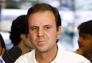 Eduardo Paes: em conversa com Lula, prefeito diz que Maricá é um lugar de merda Foto: Pablo Jacob em 06/02/2015 / Agência O Globo