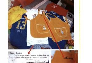 Peças de roupa com inscrições Lula, Marisa e Presidente Foto: Reprodução