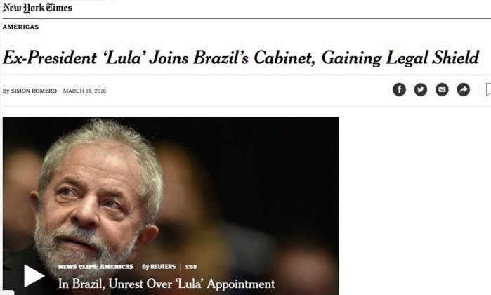 Resultado de imagem para denúncia de lula na imprensa mundial