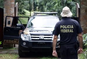 Operação Polícia Federal no sítio frequentado pelo ex-presidente Luiz Inácio Lula da Silva, em Atibaia no interior de São Paulo Foto: Luis Moura / WPP