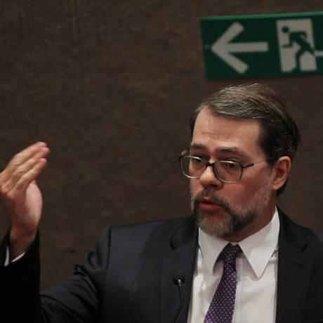 O presidente do TSE, Dias Toffoli, durante Seminário Reforma Política Foto: O Globo/10-9-2015