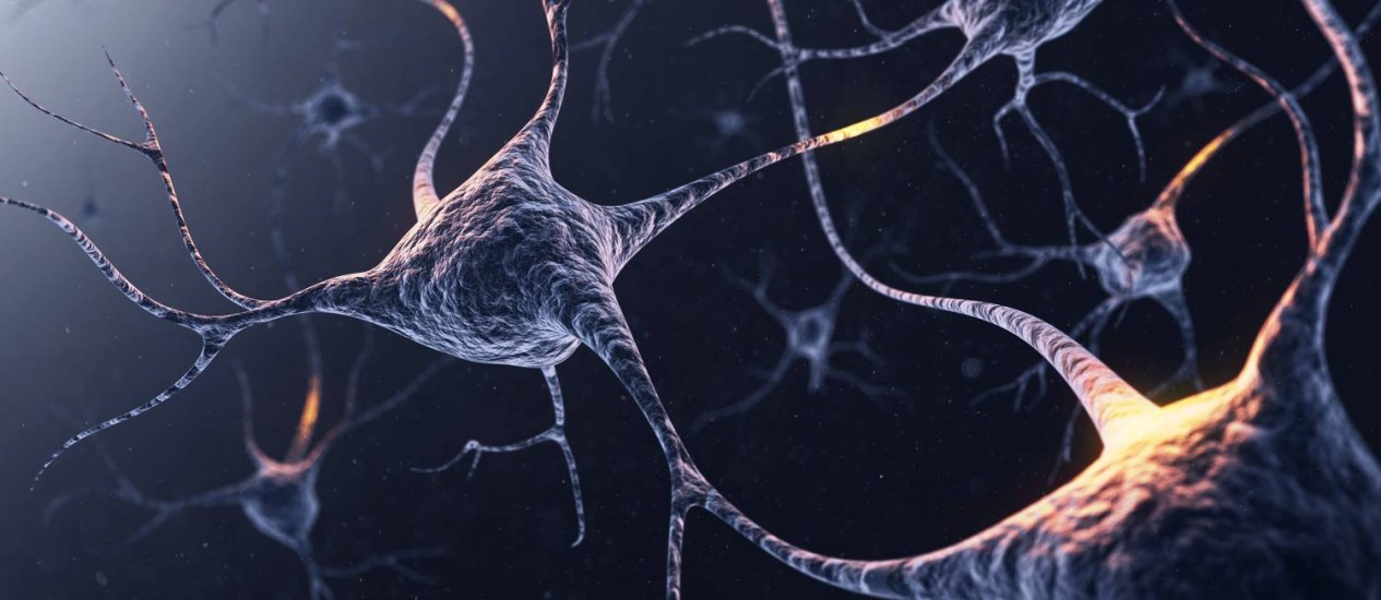 Ilustração de neurônios com conexões brilhantes: no processo de consolidação de novas memórias, é preciso enfraquecer as anteriores Foto: Latinstock